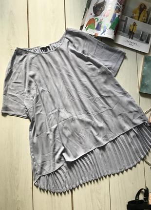 Красивая блуза сзади удлиненная плиссе большого размера