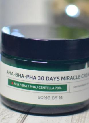 Крем для лица aha bha pha 30 days miracle cream some by mi