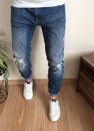 Стильные зауженные мужские джинсы burton
