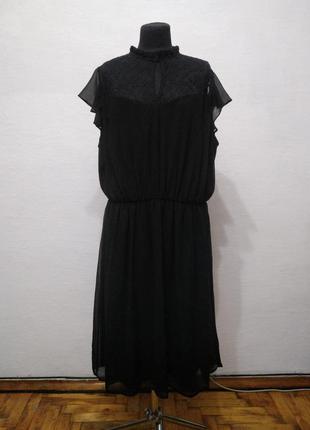 Стильное элегантное черное платье большого размера