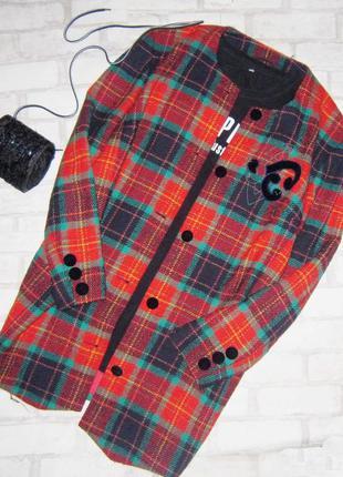 Уп бесплатная доставка шикарное дизайнерское пальто, клетка