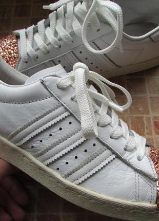 Кроссовки adidas superstar 80s кожа для девушки