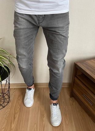 Крутые зауженные мужские джинсы zara