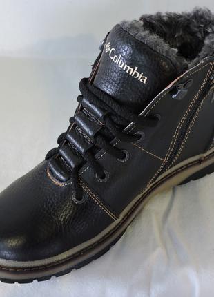 Зимние ботинки подростковые Кожа 100%,Подошва : Полиуретан+каучук