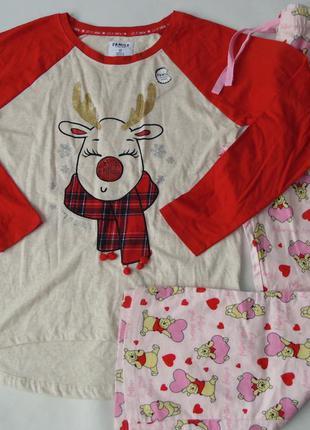 Пижама трикотаж-байка primark love to lounge англия