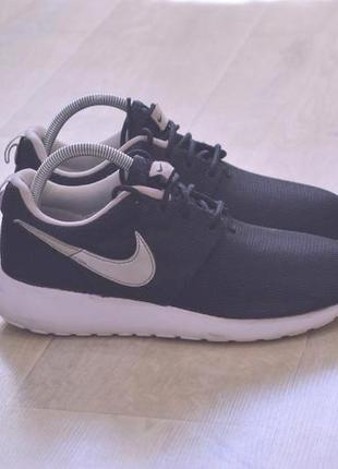 Nike roshe run женские кроссовки оригинал черные
