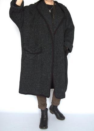 Обалденное пальто кокон, оверсайз, шерсть.