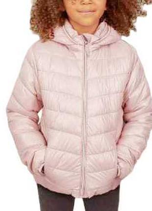 Крутая курточка пудрового цвета с капюшоном