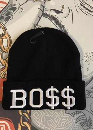 Шапка теплая boss