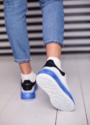 Лучшие женские кроссовки A. McQueen white/ blue