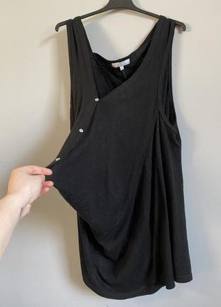 Вязаное платье из смесовой шерсти чёрное сарафан . ассиметричн...