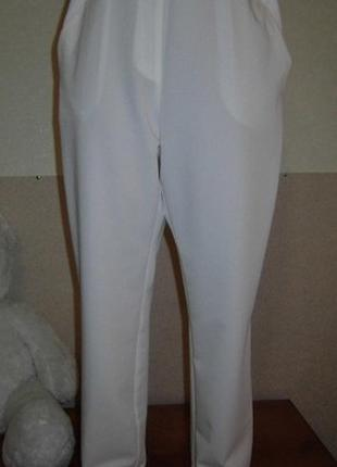 Белые брюки/батал.