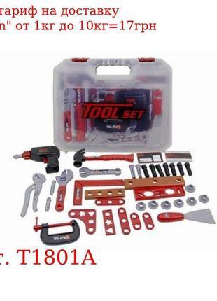 Набор инструментов T1801A дрель, молоток, ключи, на бат-ке, в ...