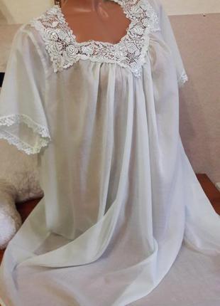 Невесомая ночная рубашка из тончайшего хлопка!