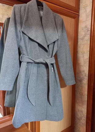 Пальто, серое пальто, осеннее пальто, длинное пальто