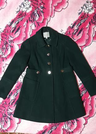 Осеннее пальто насыщенного изумрудного цвета dorothy perkins, ...