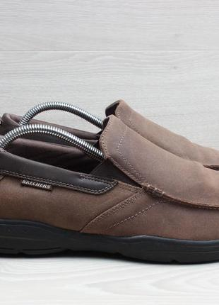 Мужские кожаные мокасины skechers оригинал, размер 44 - 45 (me...
