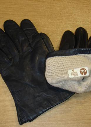 Кожаные перчатки мужские