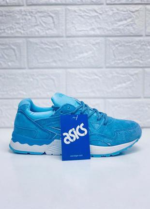 Asics женские кроссовки мятные голубые натур.нубук кроссовки а...