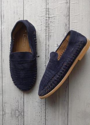 Замшевые мокасины лоферы туфли