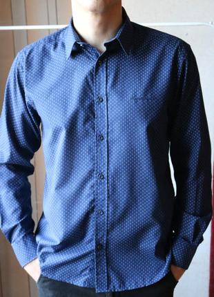 Темно-синя сорочка pierre cardin, regular fit