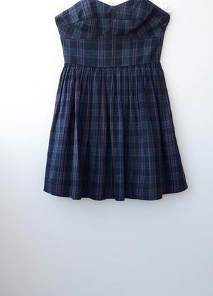 Трендовое платье в клетку платье бьюстье s m