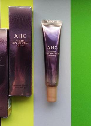 Крем для век и лица с пептидами ahc ageless real eye cream for...