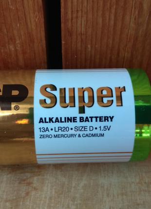 Батарейкa GP Super Alkaline 13A LR20 D
