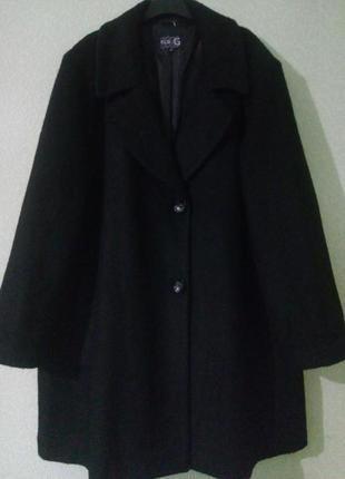 Шикарное стильное демисезонное пальто букле большого размера🍀с...