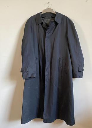 Мужской плащ ( пальто) на съемной шерстяной подкладке . темно ...