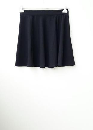 Черная юбка мини юбка колокольчик l 12
