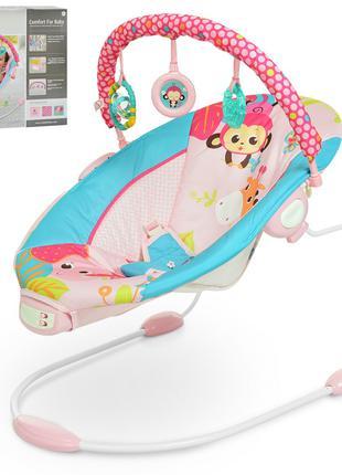 Детский шезлонг-качалка Mastela розовый