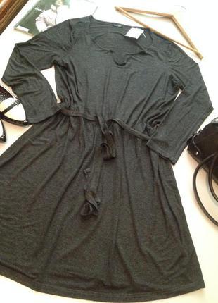 Трикотажное платье туника.1036
