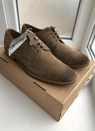 Замшевые туфли дерби h&m premium quality !