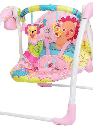 Качели детские электронные Mastela розовый