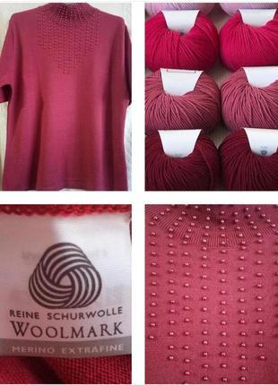 Шикарный свитер с декором из 100% экстра шерсти меринос !