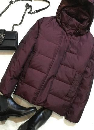 Пуховик куртка дутая цвета марсала laura ashley размер medium ...