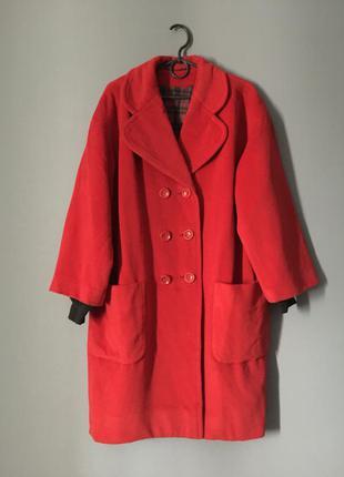Очень стильное кашемировое пальто кокон оверсайз 14---48 размер.