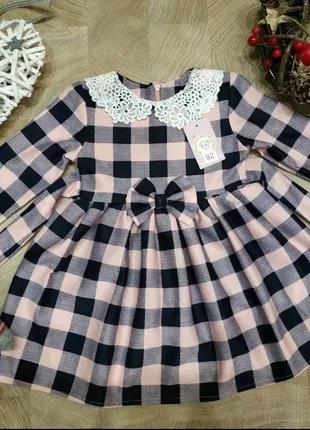 Детские платья клетка.