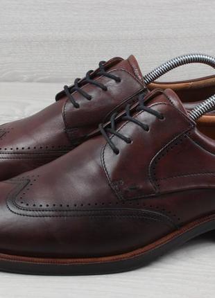 Мужские кожаные туфли броги ecco оригинал, размер 43 - 44