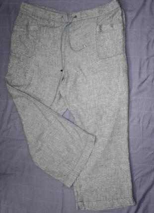 Льняные брюки штаны в стиле кэжуал, 24 р.