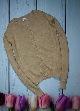Золотистый свитерок с люрексовой нитью