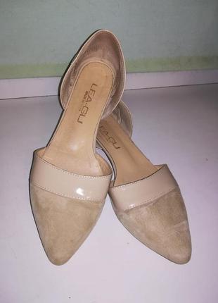 Брендовые туфли балетки мюлли