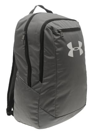 Рюкзак Under Armour Hustle Backpack grey темно серый цвет