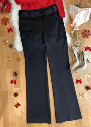 Актуальные сатиновые брюки палаццо очень высокий рост №996max