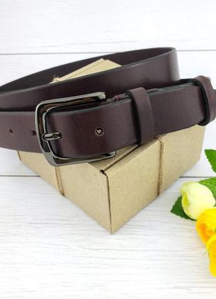 Женский кожаный ремень jk-3040 bordo