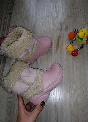 Утеплённые сапоги ботинки кроксы crocs c8-9