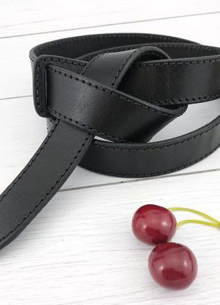 Женский кожаный ремень-узел без пряжки kb-k30