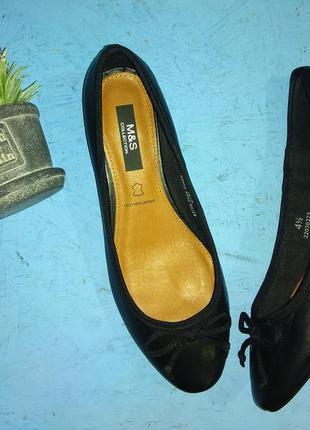 Новые кожаные туфли балетки marks & spenser р 37-37,5