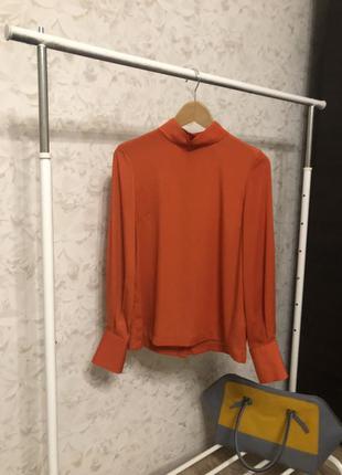 Оранжевая блузка h&m, новая!